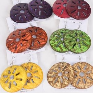 Jewelry - 6 Pack Wholesale Shell Earring Lot
